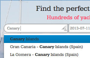 Search for Canary Islands